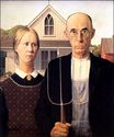 Grant Wood most famous paintings. American Gothic 1930