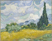 Vincent van Gogh A Wheatfield with Cypresses 1889