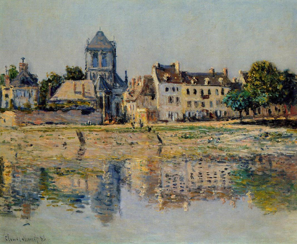 Claude Monet, picture By the River at Vernon 1883 | ArtsViewer.com