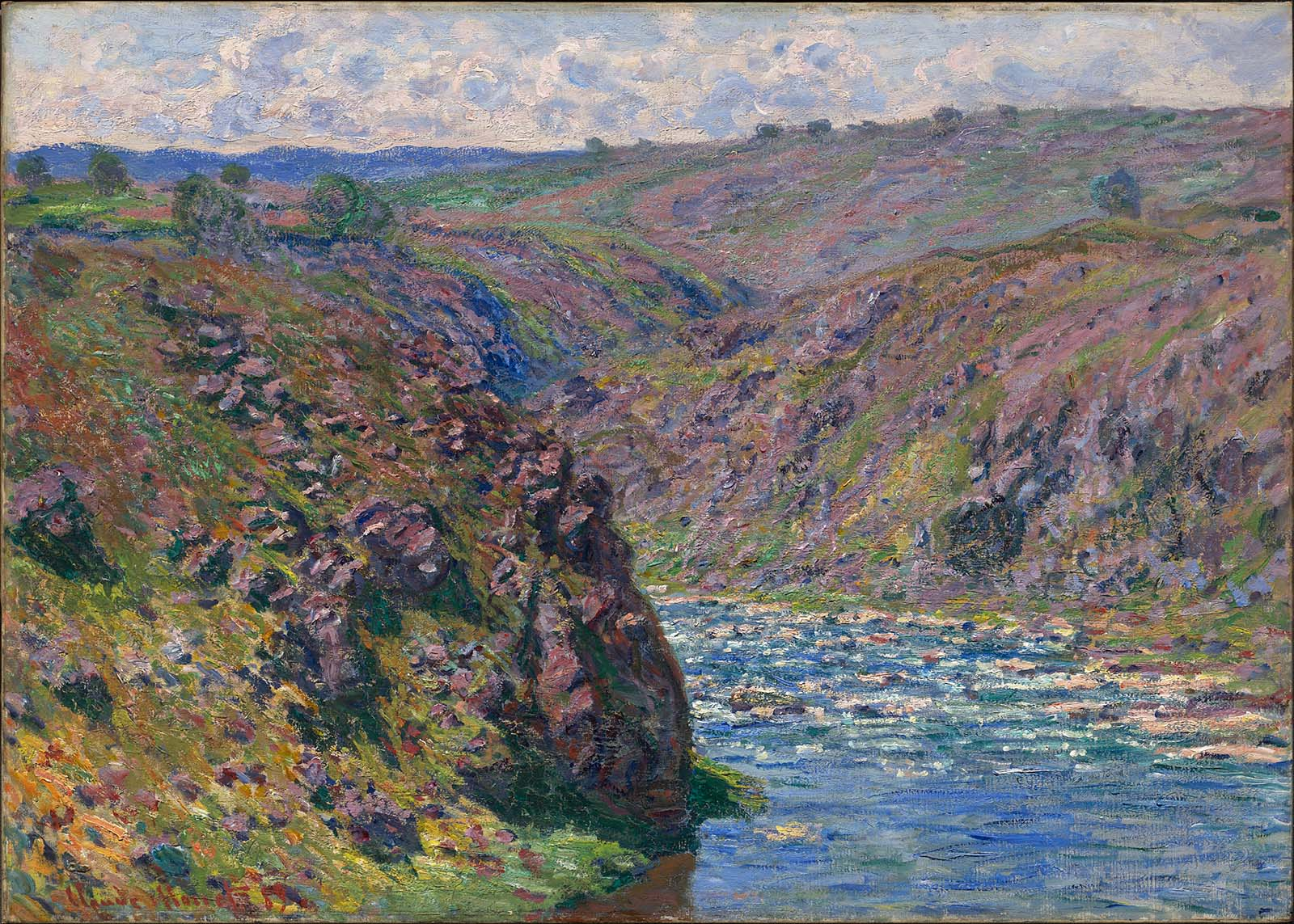 Claude Monet, picture Valley of the Creuse, Sunlight Effect 1889 |  ArtsViewer.com